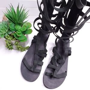 Free People Shoes - Free People Cynder Gladiator Sandals Vanchetta Blk
